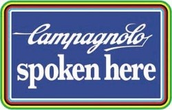 Campagnolo Spoken Here Sign