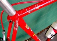 Red Bike Frame